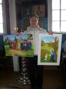 Павел Ковалёв с конкурсными работами