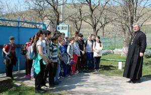 Начало занятий по внеурочной деятельности для учащихся 5-х классов казачьей школы.